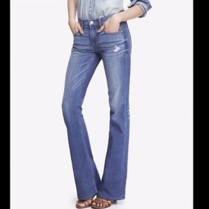 New Express Mia Mid Rise Slim Flare Jeans